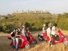 Excursion en Vespa pour un week-end C.E. en Toscane